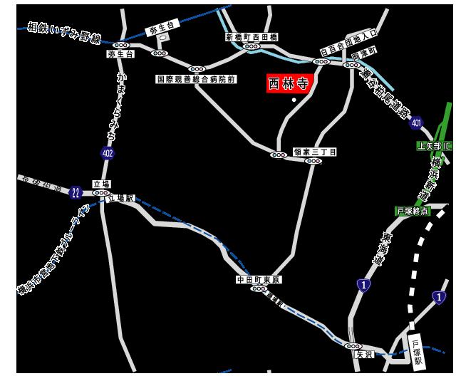 西林寺アクセス地図
